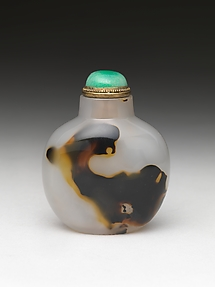 Snuff Bottle with Image of a Tiger
