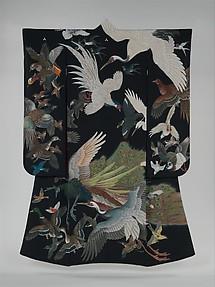 Kimono with Birds in Flight