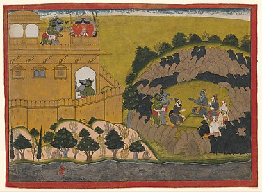 Rama Releases the Demon Spies Shuka and Sarana: Folio from a Ramayana 'Siege of Lanka' Series