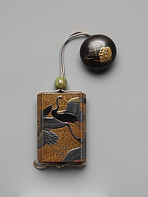 Inrō with Cranes and Pines
