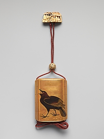 Inrō with Herons among Reeds (obverse); Crow (reverse)