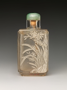 Snuff Bottle with Orchids