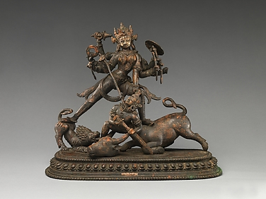 The Goddess Durga Slaying Mahisha