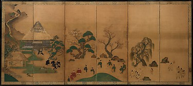 俵屋宗達工房 大原御幸図屏風