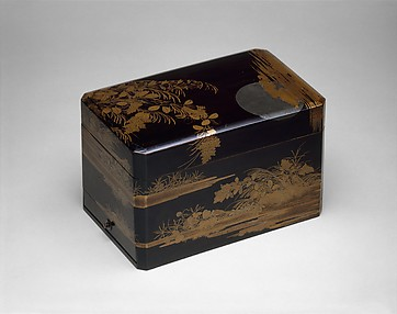 Stationary Box with Design of Moon and Autumn Grasses
