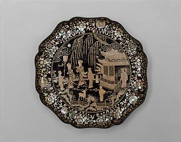 Tray with Figures in a Landscape