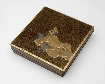 Writing Box with the Poet Kakinomoto Hitomaro (died 715)