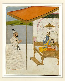 Raja Balwant Singh Revering Krishna and Radha