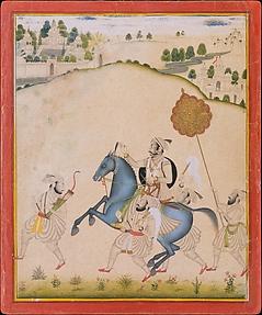 Maharana Amar Singh II Riding a Jodhpur Horse