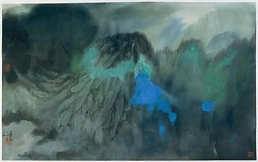 Splashed-Color Landscape