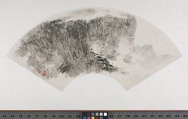 Set of Fan Paintings