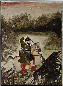 Rawat Gokul Das Hunting Boar