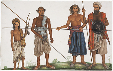 Four tribesmen