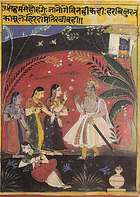 Uddhav Consoles the Dejected Gopis: Folio from a Bhramar Git Series