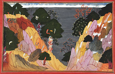 South Wind Cools in the Himalayas: Folio from a Gita Govinda Series