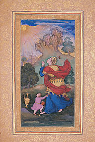 Woman Worshiping the Sun: Page from the Gulshan Album