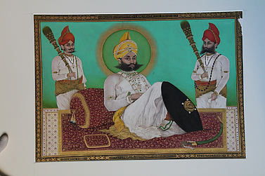 Portrait of Sarup Singh with Attendants, after William Carpenter