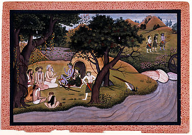 Ascetics in the Dandaka Forest Asking for Protection: Folio from a Ramayana Series