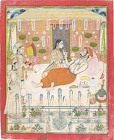 Maharana Amar Singh II at Ease in His Garden