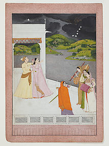 Lovers on a Terrace Watching an Approaching Thunderstorm