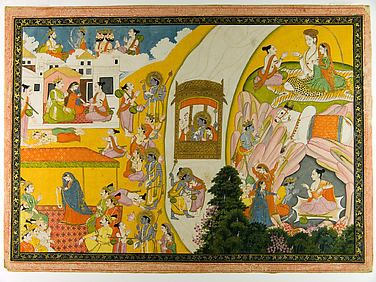 Teaching Narada: Folio from a Ramayana Series