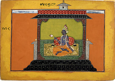 Krishna Longing for Radha: Folio from the Rasamanjari I Series