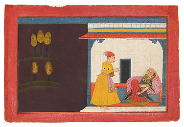 The Lover Prepares to Depart: Folio from the Rasamanjari III Series