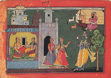 The Nayika Mudita: Folio from the Rasamanjari I Series