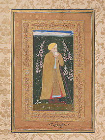 Self-Portrait of Farrukh Beg: Page from a Muraqqa of Shah Jahan