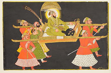 Emperor Farrukhsiyar Being Paraded in a Palanquin