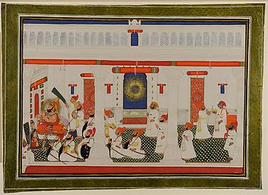 Maharana Bhim Singh and His Sons in the Surya Mahal