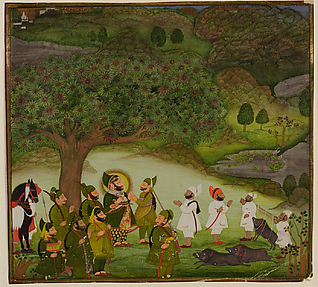 Maharana Bhim Singh Reviewing the Kill after a Boar Hunt