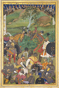 The Death of Khan Jahan Lodi: Page from the Windsor Padshahnama