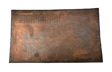 Engraved copperplate for The Battle at Tam-dy and Tru-huu