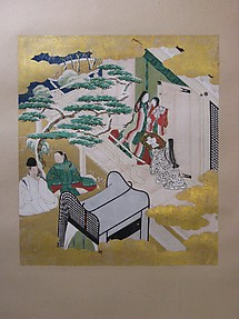 Scene from Chapter 19 of The Tale of Genji: 