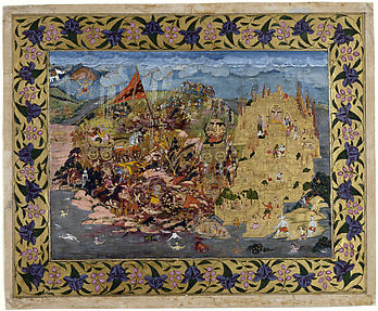 Rama and Ravana in Bloody Combat on the Island of Lanka