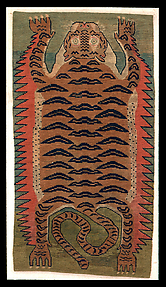 Carpet of Tiger-skin Design