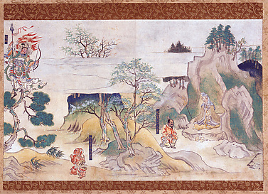 Scene from The History of Jin'ōji Temple