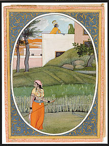 The Village Beauty: Folio from the Guler Bihari Satsai Series