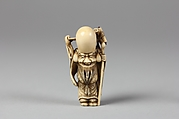 Netsuke of Fukurokujin with Karako Boy