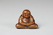 Netsuke of Seated Figure; Daruma