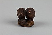 Netsuke of Quail with Millet