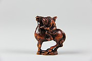 Netsuke of Equestrian Figure