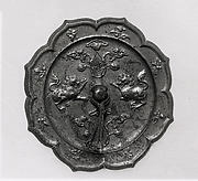 Mirror in the Shape of an Eight-Lobed Flower with Lions