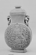 Covered Jar with Dragons