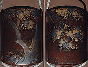 Case (Inrō) with Design of a Flowering Cherry Tree