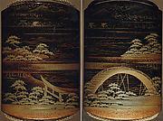 Case (Inrō) with Landscape Design of Sumiyoshi Shrine