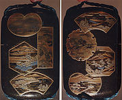 Case (Inrō) with Panels Depicting Eight Views of Lake Biwa (Ōmi Hakkei)