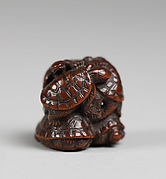 Netsuke in the Shape of a Pile of Turtles