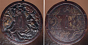 Case (Inrō) with Design of Hannya and Anchin-san beside Maple Leaves (obverse); Flaming Dragons and Inscription (reverse)